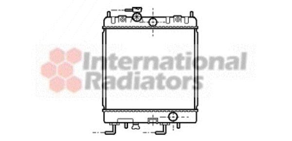 Radiateur, refroidissement du moteur - VAN WEZEL - 13002168