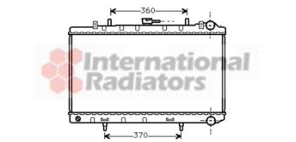 Radiateur, refroidissement du moteur - VAN WEZEL - 13002170