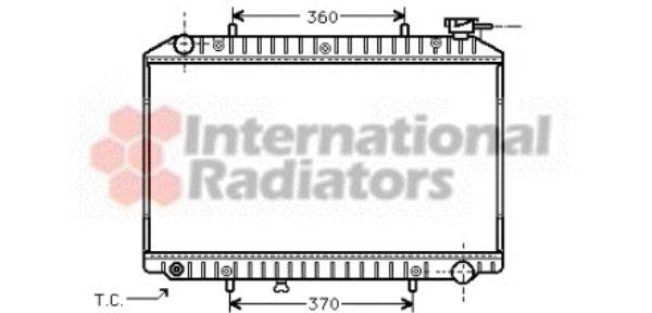 Radiateur, refroidissement du moteur - VAN WEZEL - 13002171