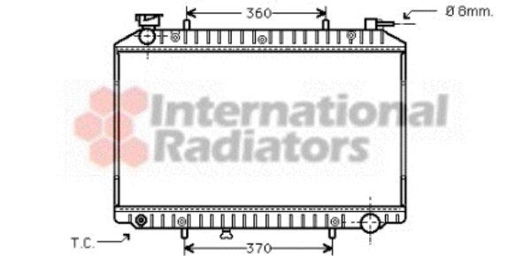 Radiateur, refroidissement du moteur - VAN WEZEL - 13002173