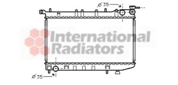 Radiateur, refroidissement du moteur - VAN WEZEL - 13002174