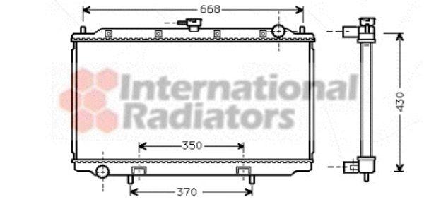 Radiateur, refroidissement du moteur - VAN WEZEL - 13002179