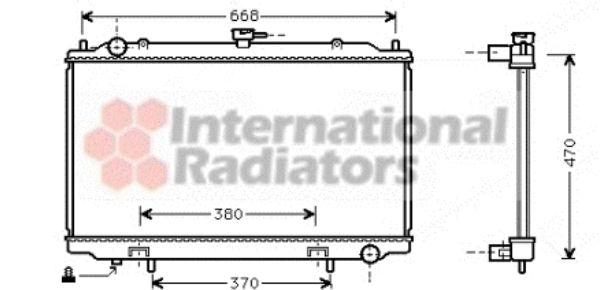 Radiateur, refroidissement du moteur - VAN WEZEL - 13002188