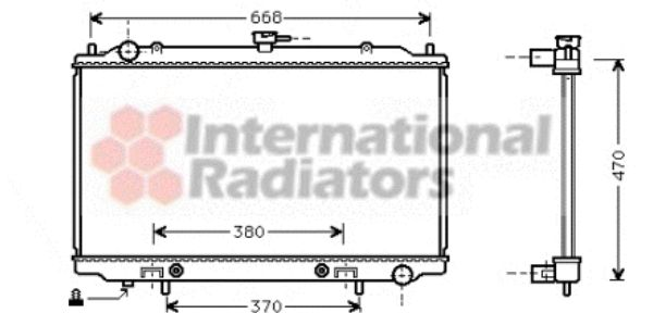 Radiateur, refroidissement du moteur - VAN WEZEL - 13002189