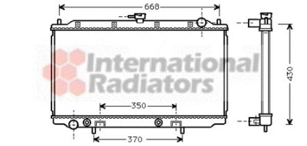 Radiateur, refroidissement du moteur - VAN WEZEL - 13002196