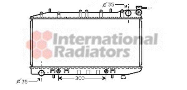 Radiateur, refroidissement du moteur - VAN WEZEL - 13002203