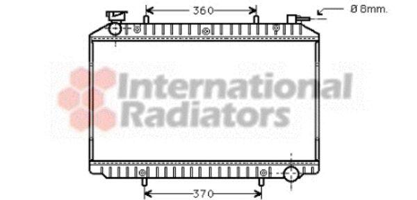 Radiateur, refroidissement du moteur - VAN WEZEL - 13002206