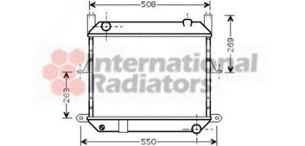 Radiateur, refroidissement du moteur - VAN WEZEL - 13002209