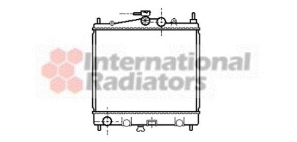 Radiateur, refroidissement du moteur - VAN WEZEL - 13002210