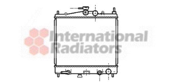 Radiateur, refroidissement du moteur - VAN WEZEL - 13002211