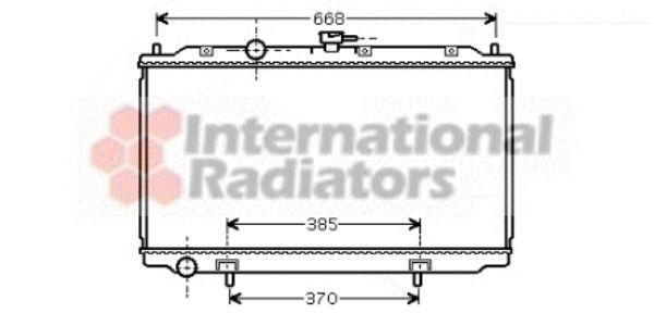 Radiateur, refroidissement du moteur - VAN WEZEL - 13002215
