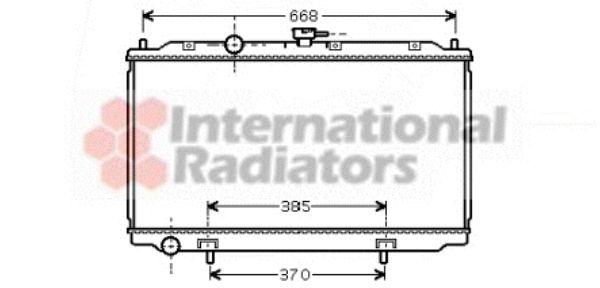 Radiateur, refroidissement du moteur - VAN WEZEL - 13002217