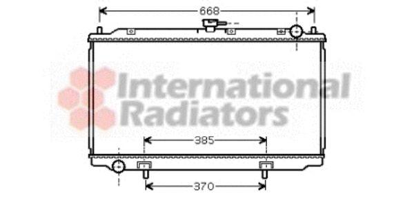 Radiateur, refroidissement du moteur - VAN WEZEL - 13002220