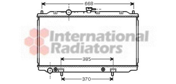Radiateur, refroidissement du moteur - VAN WEZEL - 13002223