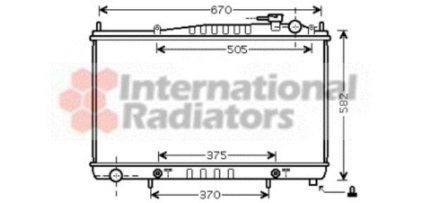 Radiateur, refroidissement du moteur - VAN WEZEL - 13002232
