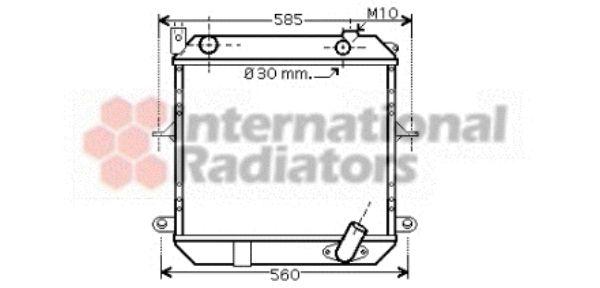 Radiateur, refroidissement du moteur - VAN WEZEL - 13002233