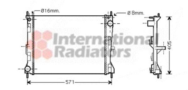 Radiateur, refroidissement du moteur - VAN WEZEL - 13002235
