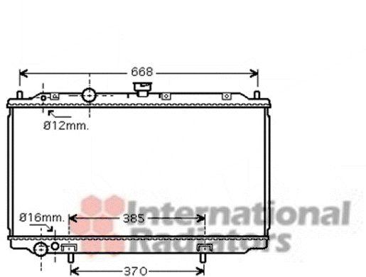 Radiateur, refroidissement du moteur - VAN WEZEL - 13002237
