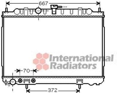 Radiateur, refroidissement du moteur - VAN WEZEL - 13002239