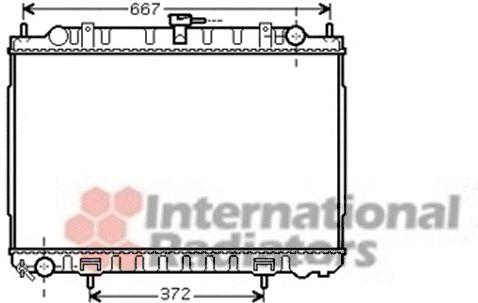 Radiateur, refroidissement du moteur - VAN WEZEL - 13002240