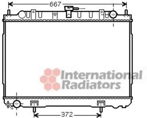 Radiateur, refroidissement du moteur - VAN WEZEL - 13002241