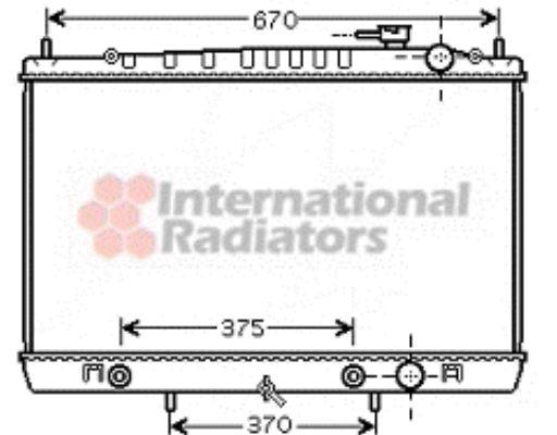Radiateur, refroidissement du moteur - VAN WEZEL - 13002242