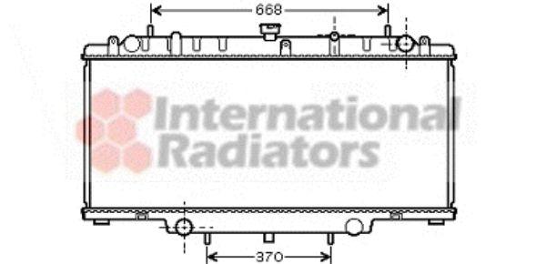 Radiateur, refroidissement du moteur - VAN WEZEL - 13002246