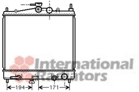 Radiateur, refroidissement du moteur - VAN WEZEL - 13002248