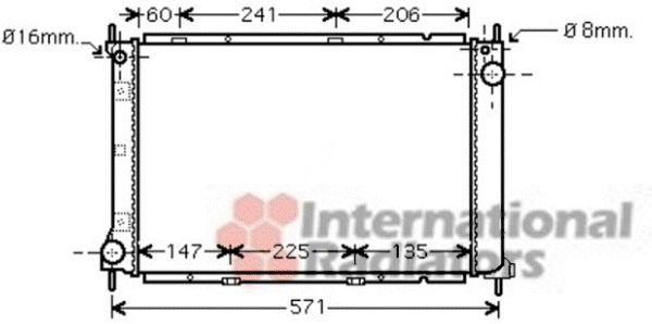 Radiateur, refroidissement du moteur - VAN WEZEL - 13002250