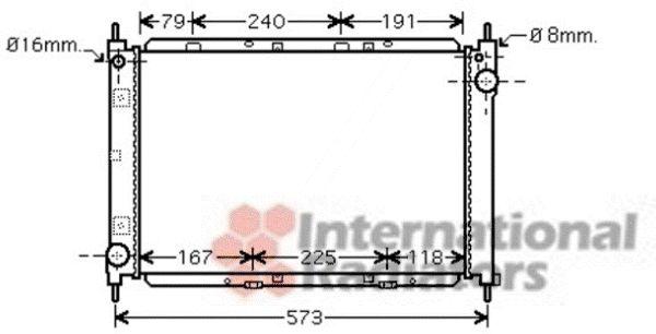 Radiateur, refroidissement du moteur - VAN WEZEL - 13002261
