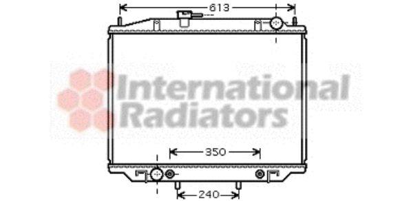 Radiateur, refroidissement du moteur - VAN WEZEL - 13002262