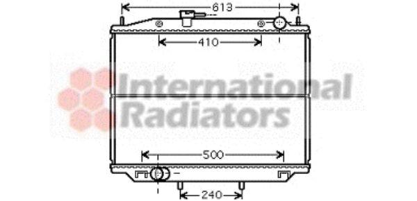 Radiateur, refroidissement du moteur - VAN WEZEL - 13002265