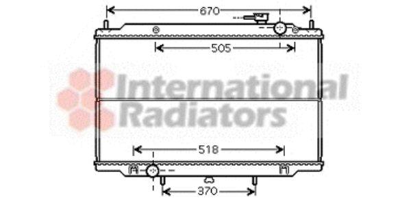 Radiateur, refroidissement du moteur - VAN WEZEL - 13002266