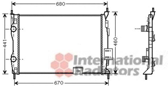 Radiateur, refroidissement du moteur - VAN WEZEL - 13002278