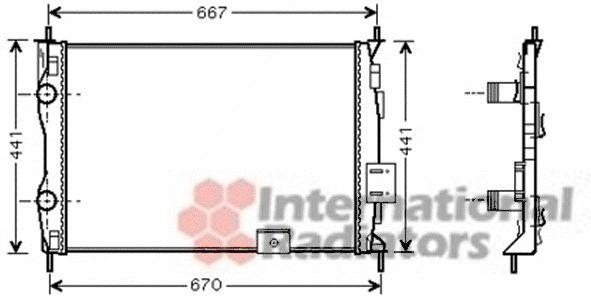 Radiateur, refroidissement du moteur - VAN WEZEL - 13002279