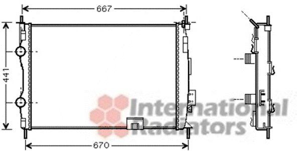 Radiateur, refroidissement du moteur - VAN WEZEL - 13002280