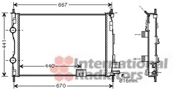 Radiateur, refroidissement du moteur - VAN WEZEL - 13002287