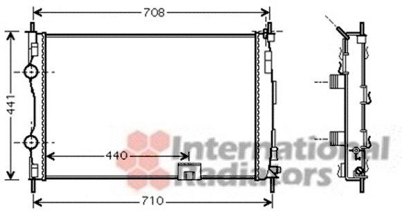 Radiateur, refroidissement du moteur - VAN WEZEL - 13002288