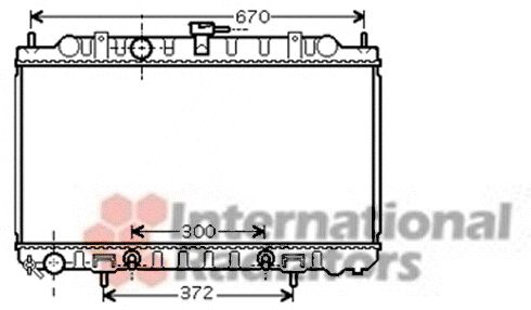 Radiateur, refroidissement du moteur - VAN WEZEL - 13002289