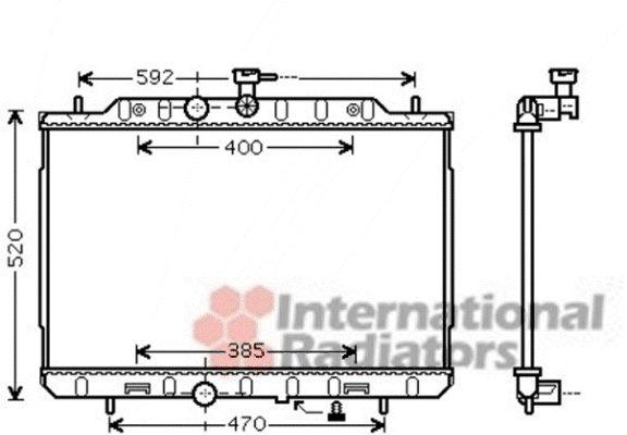 Radiateur, refroidissement du moteur - VAN WEZEL - 13002291