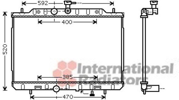 Radiateur, refroidissement du moteur - VAN WEZEL - 13002292