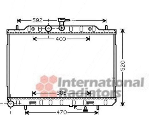 Radiateur, refroidissement du moteur - VAN WEZEL - 13002293