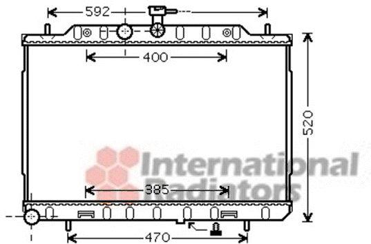 Radiateur, refroidissement du moteur - VAN WEZEL - 13002294