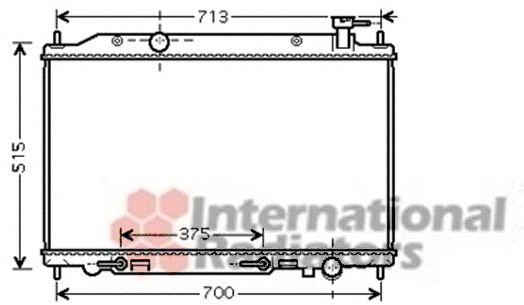 Radiateur, refroidissement du moteur - VAN WEZEL - 13002295