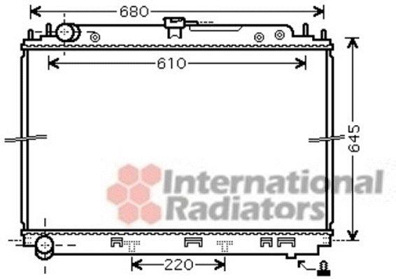 Radiateur, refroidissement du moteur - VAN WEZEL - 13002296
