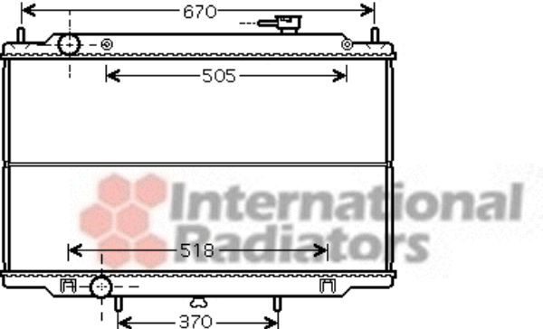 Radiateur, refroidissement du moteur - VAN WEZEL - 13002302