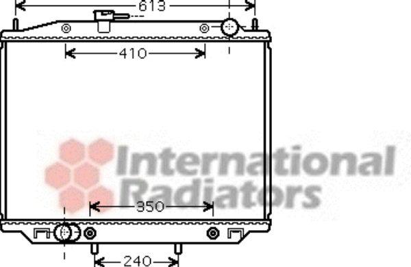 Radiateur, refroidissement du moteur - VAN WEZEL - 13002303