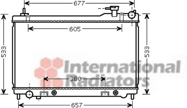 Radiateur, refroidissement du moteur - VAN WEZEL - 13002304