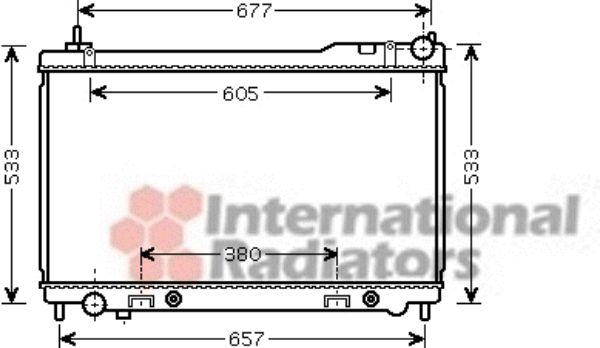 Radiateur, refroidissement du moteur - VAN WEZEL - 13002305