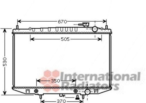 Radiateur, refroidissement du moteur - VAN WEZEL - 13002309
